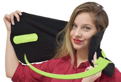 Neck Support Black Travel Pillow Cover Soft Insert Black For Airplane Car Seat Men Women Boys Girls Kids Lightweight- Maymars