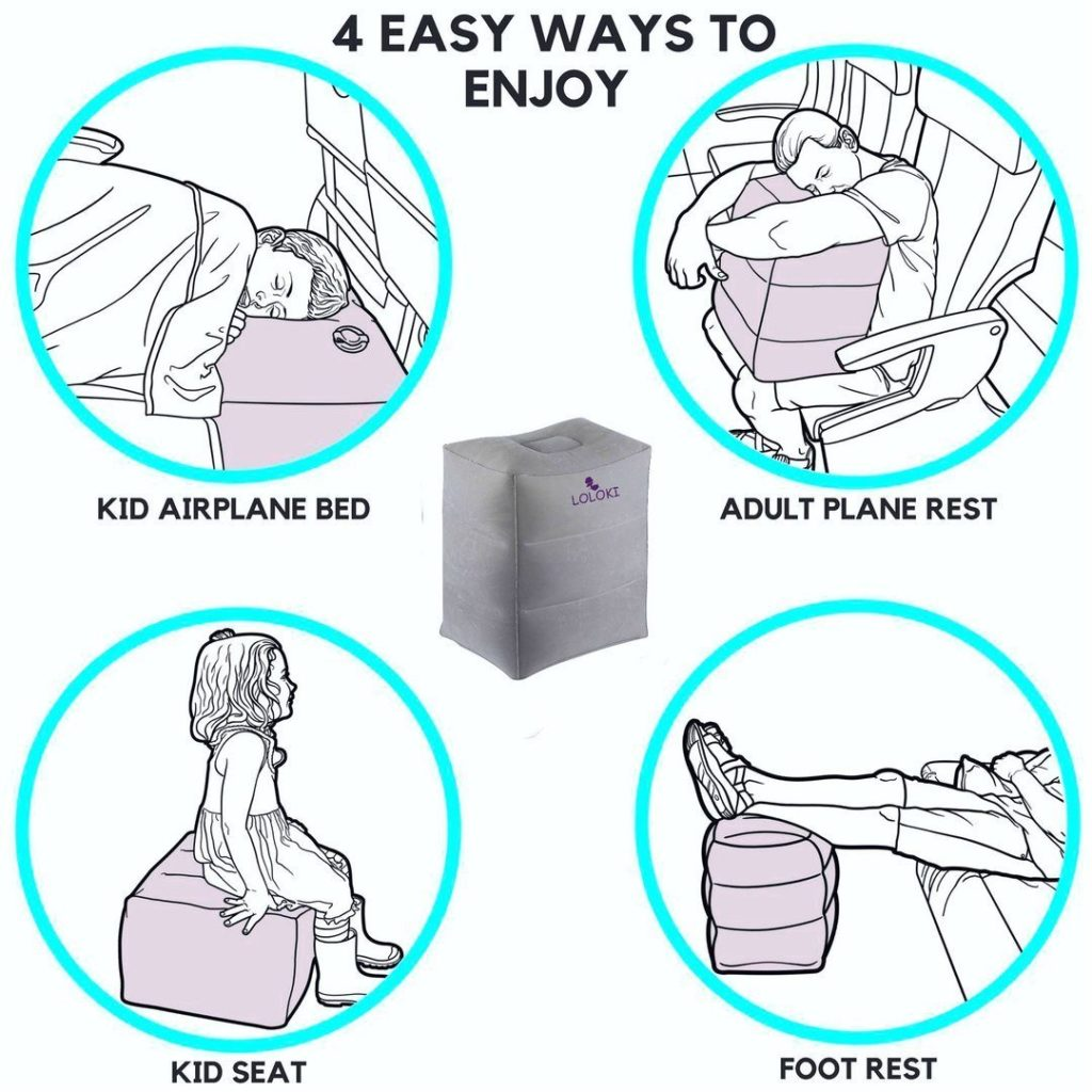 Travel Foot Leg Rest Pillow New Inflatable Travel Foot