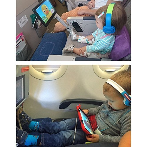 New Inflatable Travel Foot Leg Rest Pillow for Kids,Children During Airplanes Flight and Being kids Bed to Lay Down or Sleep on Long Flights from Mauvana - Blue