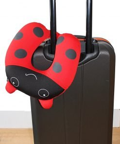 Nido Nest Kids Travel Neck Pillow - Best for Long Flights, Road Trips or Gifts For Children - U-Shaped Pillows Sized Best for Toddler, Preschool, Kindergarten, Elementary Children - LADYBUG