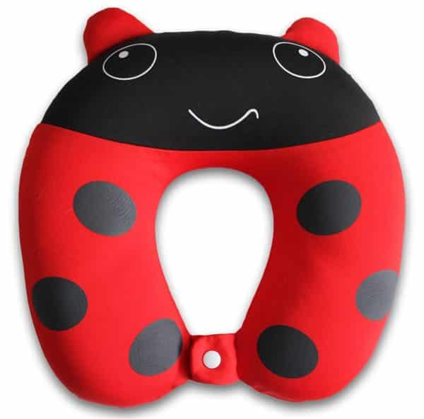 Nido Nest Kids Travel Neck Pillow - Best for Long Flights, Road Trips or Gifts For Children - U-Shaped Pillows Sized Best for Toddler, Preschool, Kindergarten, Elementary Children - LADYBUG