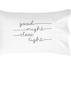 Oh, Susannah Good Night Sleep Tight Kids Pillowcase - (1 14x20.5 Inch Pillow Case) Fits Toddler and Travel Size Pillow Insert Kids Room Decor Birthday Present