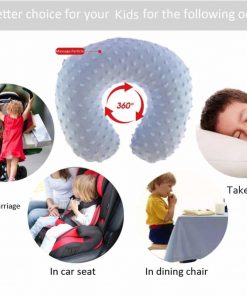 PIKOVIC Kid's Inflatable Travel Pillow - AKX01 Soft Kid's Neck Support Pillow for Travel,Driving,Picnic Toddler Car Seat Pillow with Pillow Case,6-10 Years
