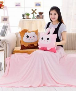 Pillow Blanket Kids Pets Travel Pillow Blanket 2 in 1 Warm Hands Throw Pillows Pillow For Sleeping Pillow Cushion For Sofa Bed Pillow Cushion Set For Home Office Car Air Conditioned Room Nap Time