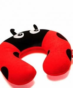 Red Balloon Little Kid and Toddler Girls Neck Pillow, Hazel Ladybug - Suitable for Traveling in the Bus, Car, Airplane or use at Home