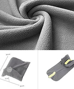 SKST Travel Pillow, Inflatable Pillow Airplane, Perfect for Planes, Cars, Trains, Office, Home, Camping (Grey)