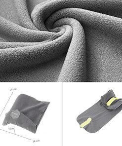 See You Always Travel Pillow Soft Neck Support Wrap around Travel Neck Pillow Lightweight Airplane Pillow Easy to Carry and Machine Washable - Grey