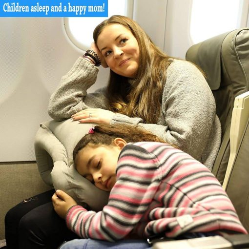 Sencezo Inflatable Travel Pillow Sleep Aid - with Eye Mask, Earplugs, Carry Pouch