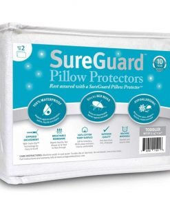 Set of 2 Toddler-Travel Size SureGuard Pillow Protectors