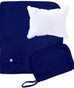 Simplicity 2 PCs Inflatable Travel Pillow & Blanket Set
