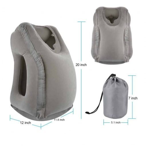 Simptech Inflatable Travel Pillow, Ergonomic and Portable Head Neck Rest Pillow,Patented Design for Airplanes, Cars, Buses, Trains, Office Napping, Outdoor Camping