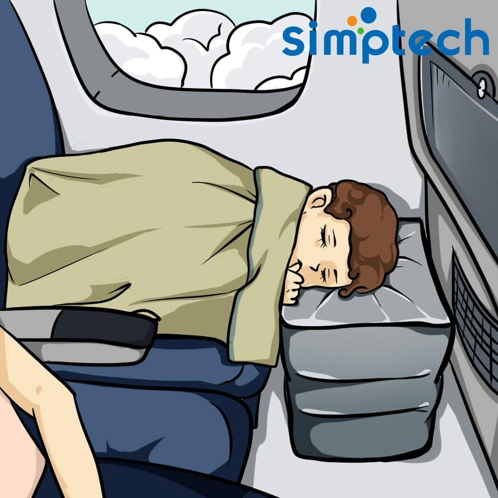 Airplane Pillow For Leg Simptech Travel Airplane Pillow