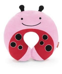 Skip Hop Zoo Little Kid and Toddler Travel Neck Rest, Soft Plush Velour, Multi Livie Ladybug
