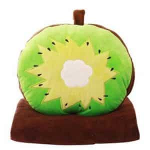 Skyseen 3 in 1 Fruit Nap Blanket & Hand Warmer & Pillow Set Adults Kids Throw Pillow Cushion Stuffed Toy,Kiwi