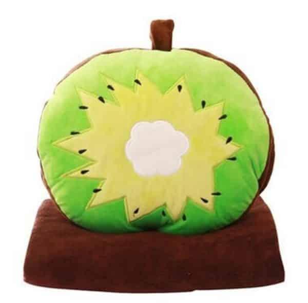 Skyseen 3 in 1 Fruit Nap Blanket & Hand Warmer & Pillow Set Adults Kids Throw Pillow Cushion Stuffed Toy,Kiwi