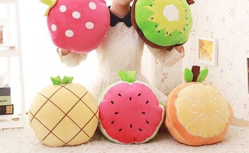 Skyseen 3 in 1 Fruit Nap Blanket &Stuffed Toy& Pillow Set Adults Kids Throw Pillow Cushion,Watermelon