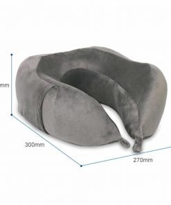 Slow Rebound Memory Foam Travel Pillow U Shaped Neck Pillow With Attached Carry Bag