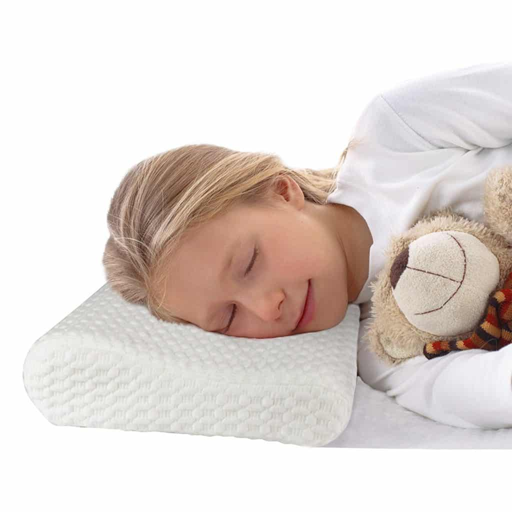 Small Memory Foam Contour Pillow Thin Profile Helps