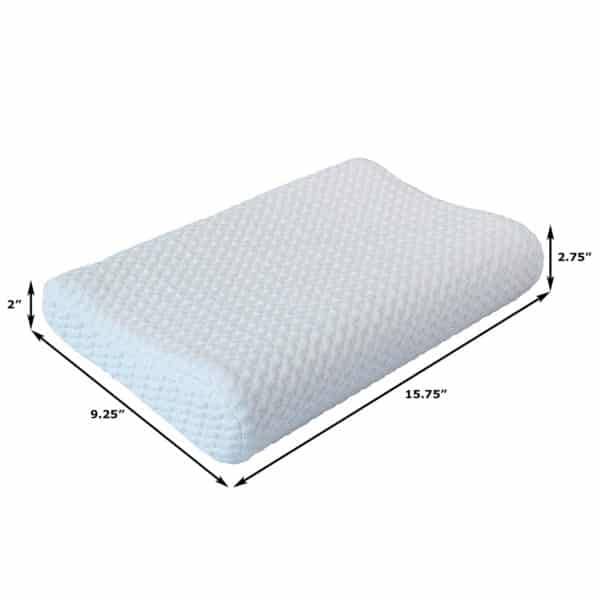 Small Memory Foam Contour Pillow, Thin Profile Helps Facilitate Proper Alignment for Neck Pain Relief and Zen Relaxation, Multiple Uses: Neck, Back, Lumbar, Travel, Children, Toddlers