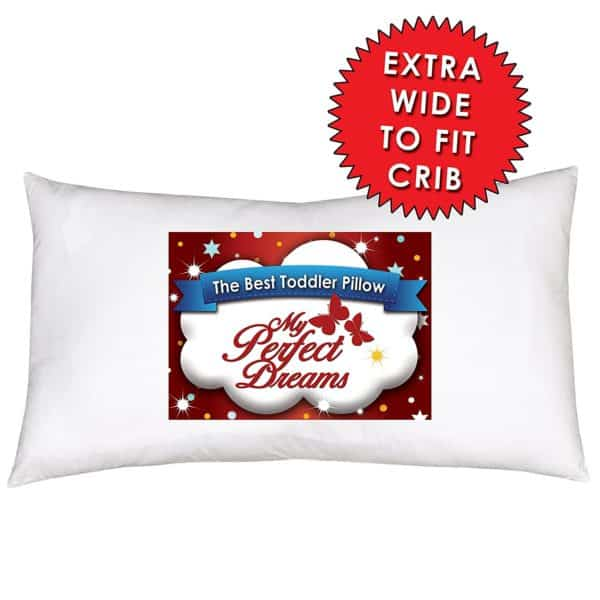 Toddler Pillow INCLUDES PILLOW CASE YOUR CHILD WILL NEVER SLEEP BETTER Premium Quality Fiber Filling PLUS Super Soft 100% Cotton Pillow Case by My Perfect Dreams