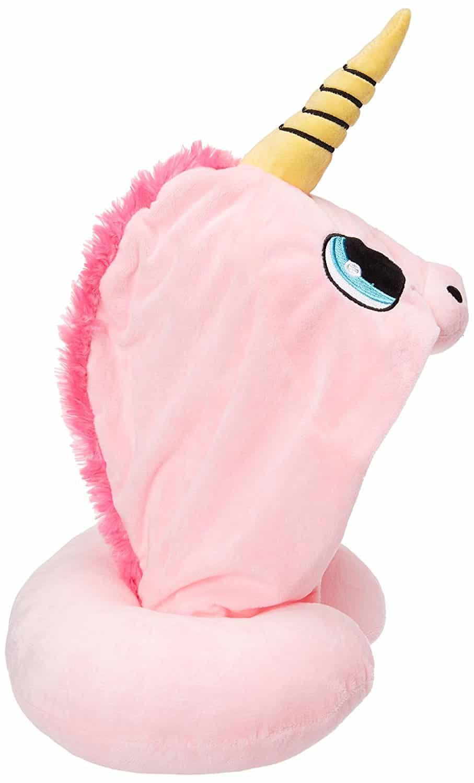 Travel Neck Pillow Cute Unicorn Shading Hoodie U Soft