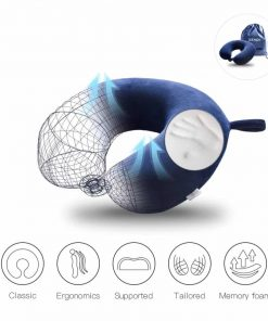 Travel Pillow Memory Foam Neck Car Airplane Comfortable U Shape Pillow with Bag