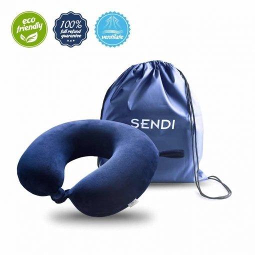 Travel Pillow Memory Foam Neck Car Airplane Comfortable U Shape Pillow with Bag