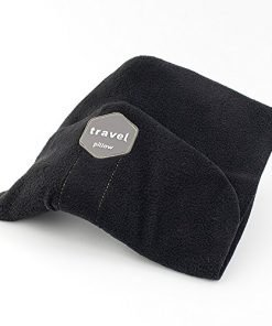 Travel Pillow - Scientifically Proven Super Soft Neck Portable for Airplane Car Train and Bus Travel Pillow (Black)