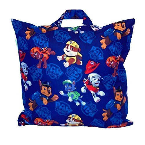 Travel Pillow for Kids - Made From Paw Patrol Fabric - Personalized Preschoolers Naptime Childrens