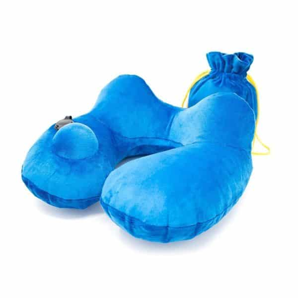 Travel pillow inflatable neck support pillows for airplanes | The best airplane blow up traveling accessories | The perfect airline flight air compact sleeping pilow | Relax your head
