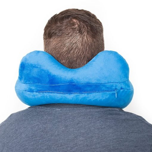 Travel pillow inflatable neck support pillows for airplanes   The best airplane blow up traveling accessories   The perfect airline flight air compact sleeping pilow   Relax your head