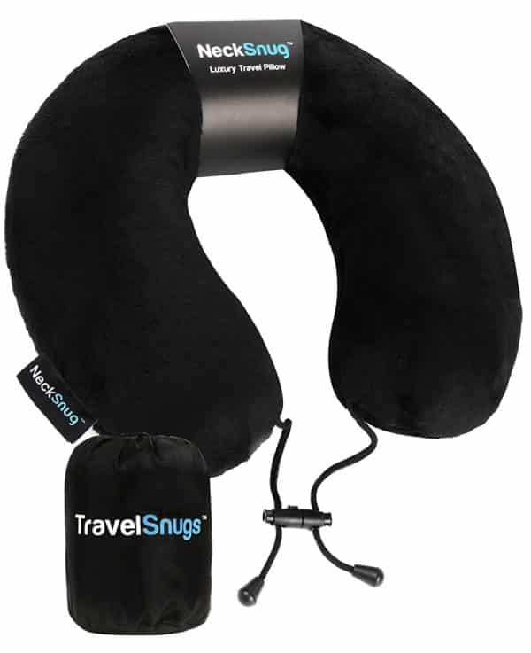 TravelSnugs NeckSnug - Luxury Travel Pillow - Memory Foam Neck Pillow for Travel - by