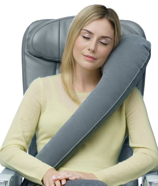 Travelrest Ultimate Travel Pillow/Neck Pillow - Ergonomic & Adjustable - Best Accessory For Airplane, Auto, Bus, Train, Office Napping, Camping, Wheelchairs (Rolls Up Small) (2-Year Warranty)