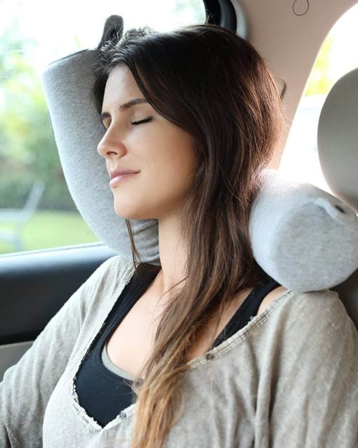 Twist Memory Foam Travel Pillow for Neck, Chin, Lumbar and Leg Support - For Traveling on Airplane, Bus, Train or at Home - Best for Side, Stomach and Back Sleepers - Adjustable, Bendable Roll Pillow