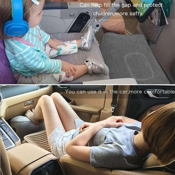 U-LINK Inflatable Travel Foot Rest Pillow, Footrest Travel Bed for Airplanes, Cars, Buses, Trains, Office, Home, and Kids to Lay Down or Sleep on Long Flights