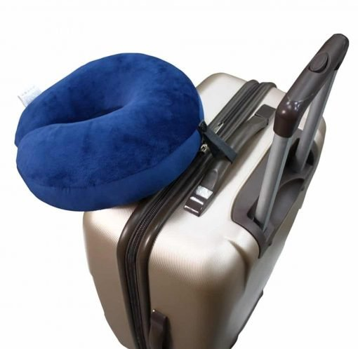 U Shaped Neck Pillow Smartrip Support Airplane Car Travel Environmental Micro Particles Soft Comfortable Easy To Clean Navy Blue