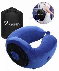 VIKTOR JURGEN Travel Neck Pillow - Memory Foam and Cooling Gel Pillows with Neck and Head Support - U-shaped Pillow - Great Gift Idea – Perfect for Trips, Office and School Napping
