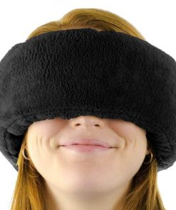 Wrap-a-Nap™ Travel Pillow, Sleep Mask & Ear Muff. Adjustable Soft Fleece Neck and Head Pillow. Machine Washable. One-Size-Fits-All.