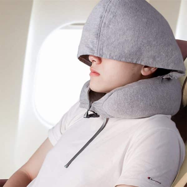 Z9 Natural Latex Travel Pillow for Airplanes - 360° Neck Support Travel Pillow - Ultra Comfort for Travelling in Airplane, Car, Train & Office - 2 IN 1 Best Travel Pillow (2017 New Invention)